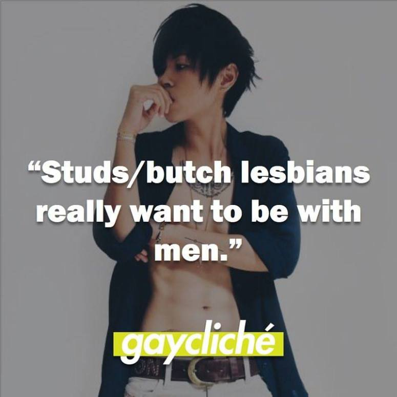 Stud.butch lesbians really want to be men
